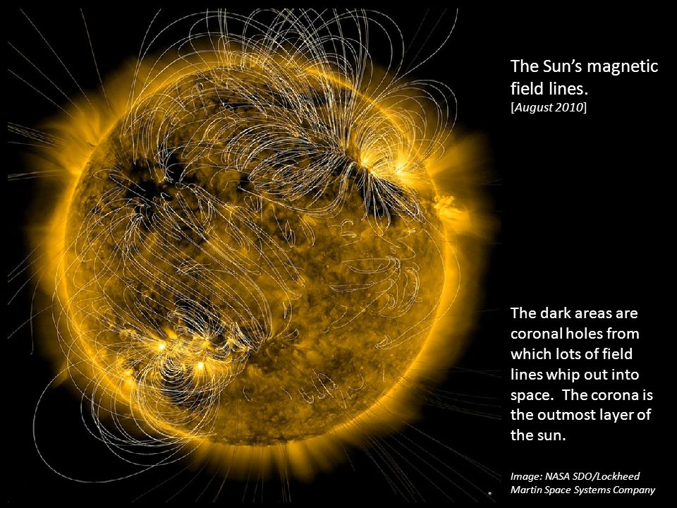 The Sun's magnetic field lines. [August 2010]